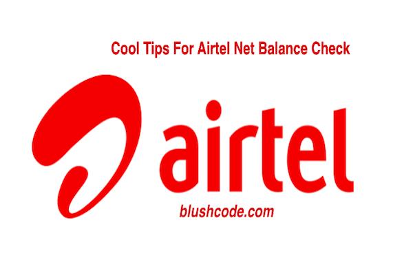 Airtel Net Balance Check