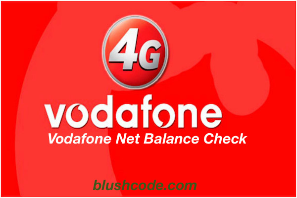 Vodafone Net Balance Check Code- Internet Data Usage For 3G And 4G