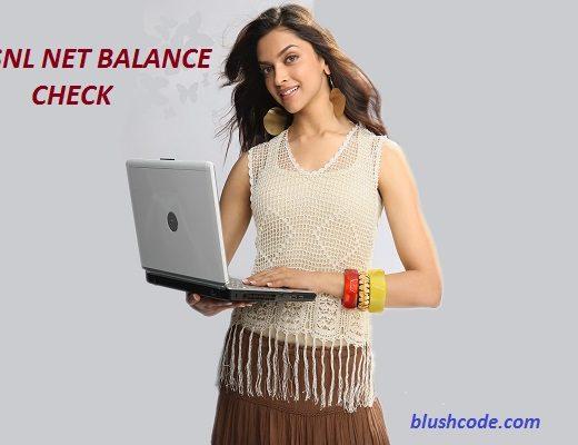 bsnl net balance check