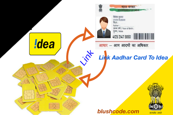 link aadhar card to idea